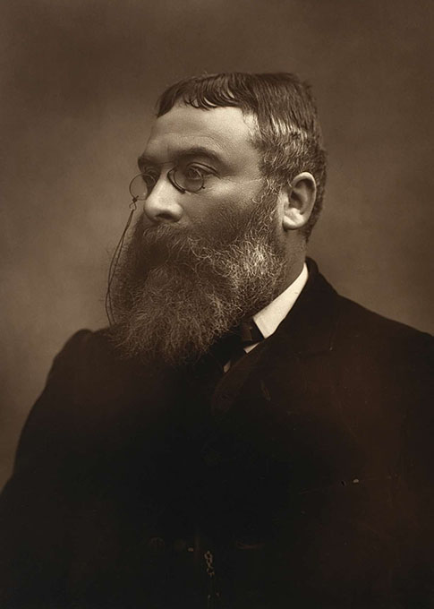 Black and white photograph by Herbert Rose Barraud of Sir Walter Besant