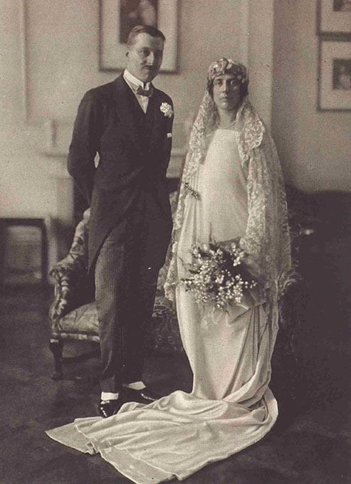 Sylvia and Charles on their wedding day