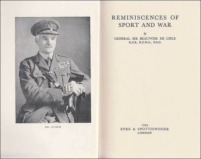 Reminiscences of Sport and War